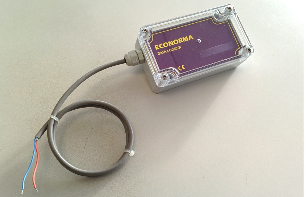 Data Logger per registrazione di impulsi e aperto/chiuso